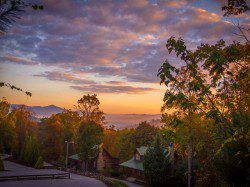 Black Bear Lodge at Sunset