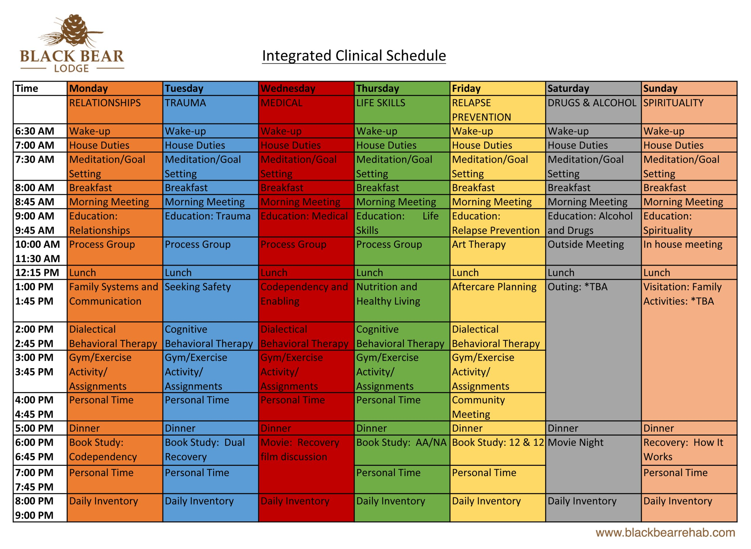 Intergrated Clinical Schedule