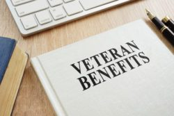 book on VA benefits on desk