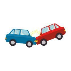 illustration of two cars colliding