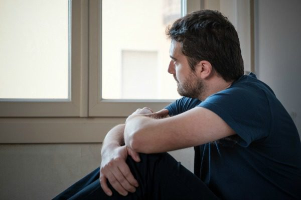 Man contemplating therapy