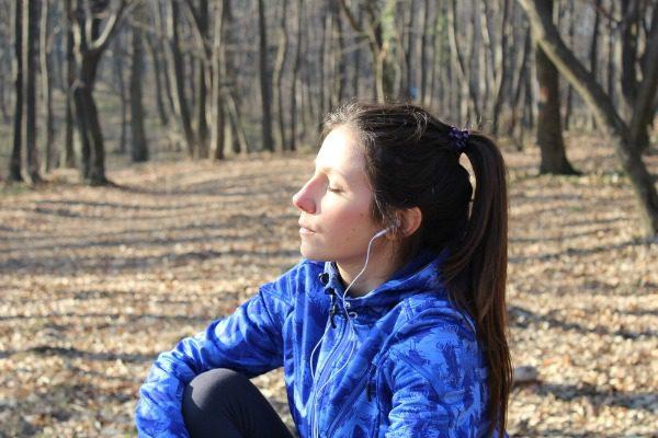 Woman contemplating detox